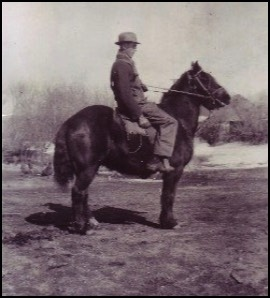 Frank Greenfield on horseback